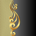 Black background gold with ornament Royalty Free Stock Photo