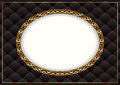 Black background gold with vintage frame Royalty Free Stock Image