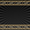 Black background with golden ornaments Royalty Free Stock Photos