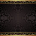 Black background with golden ornaments Royalty Free Stock Photography