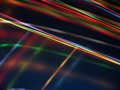 Black background with multicolored luminous lines Royalty Free Stock Photo