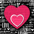 Black background with red valentine heart and wis wishes text vector illustration Stock Photos