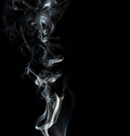 Black background with white smoke as template for your brochure 免版税库存照片