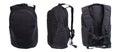 Black backpack isolated on white product studio shots background Stock Images