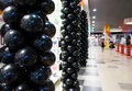 Black balloons in mall Royalty Free Stock Photo