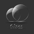 Black balls with a signature glass vector Royalty Free Stock Photography