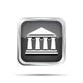 Black bank icon on a white background Royalty Free Stock Photos