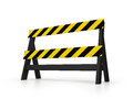 Black barrier d isolated yellow Royalty Free Stock Images