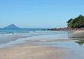 Black beach in são sebastião brazil Royalty Free Stock Image