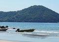 Black beach in são sebastião brazil Royalty Free Stock Photos