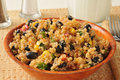 Black bean quinoa salad a bowl of and Royalty Free Stock Images
