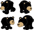 Black Bear Vector Set Stock Photos