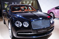 A black bentley car take on the th chongqing international motor show june th th there are many international famous brand Royalty Free Stock Photos