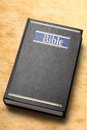Black bible book on paper background Stock Image