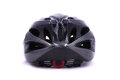 Black bicycle helmet back on white background Royalty Free Stock Photo