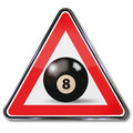 Black billiard ball number 8 Royalty Free Stock Photo