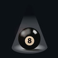 Black billiard ball number eight Royalty Free Stock Photo