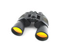 Black binoculars on the white background Stock Photography
