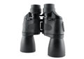 Black binoculars on the white background Royalty Free Stock Image