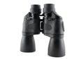 Black binoculars on the white background Royalty Free Stock Image