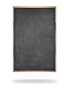 Black blank vertical blackboard with wooden frame Royalty Free Stock Photo
