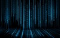 Black blue binary system code background Royalty Free Stock Photo
