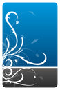 Black and blue floral design card Royalty Free Stock Photos