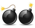 Black Bomb Icon Stock Photography