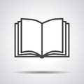 Black book icon Royalty Free Stock Photo