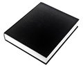 Black book in row Royalty Free Stock Photo