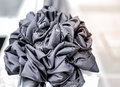 Black bow for funeral retro tone x funeral mourning black x selective focus and close up Royalty Free Stock Photos