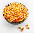 Candy Corn In A Bowl Royalty Free Stock Photo