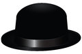 Black bowler hat also known as a bob vector illustration Royalty Free Stock Image