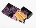 Black box of matches Royalty Free Stock Images