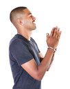 Black boy pray his god Stock Image