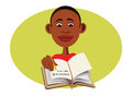 Black boy reading Stock Image