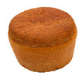 Black bread round russian isolated on white background clipping path Stock Images
