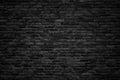 Black brick wall, dark background for design Royalty Free Stock Photo