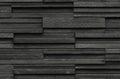 Black bricks slate texture background, slate stone wall texture Royalty Free Stock Photo