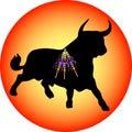 Black Bull With Banderillas