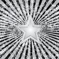Black burst silver star Royalty Free Stock Photography