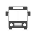 Black Bus icon Royalty Free Stock Photo