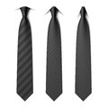 Black business neck ties Royalty Free Stock Photo