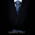 Black business suit with a tie Stock Images