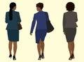 Black business Women Walking Away Royalty Free Stock Photo