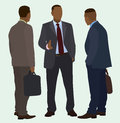 Black businessmen talking african american business men having a conversation Stock Image