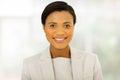 Black businesswoman portrait beautiful young Royalty Free Stock Photo