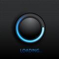 Black button Royalty Free Stock Photo