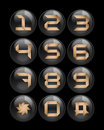 Black buttons set for phones Royalty Free Stock Photo