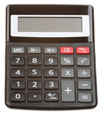Black calculator isolated Stock Image